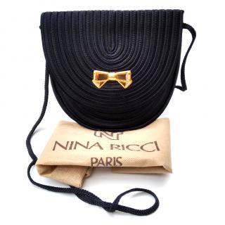 NINA RICCI Vintage Black Shoulder Bag.