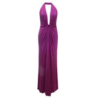 Issa London Purple Halter neck maxi dress