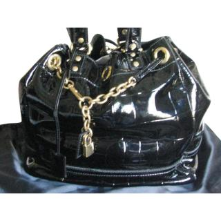 Yves Saint Laurent Patent Leather Overseas Tote Bag