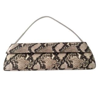 Russel & Bromley brown/natural snakeprint clutch bag