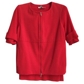 MAX MARA jacket & sweater with 3/4 sleeves in red