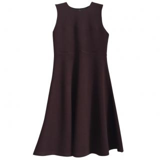 JOSEPH Virgin Wool Milano mid-length burgundy dress