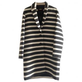 MAJE striped boyfriend coat