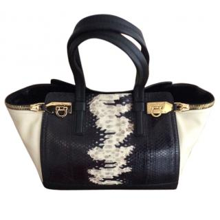 Salvatore Feragammo Verve Python & Leather tote