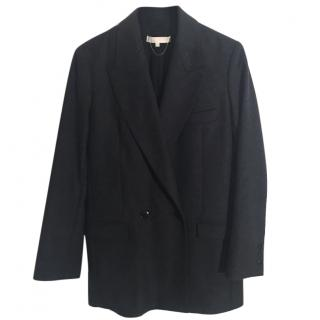 VANESSA BRUNO virgin wool angora grey thigh length pea coat