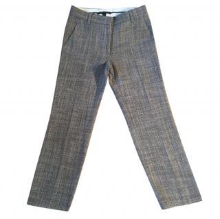 MARC JACOBS virgin wool & angora tweed black & grey trousers