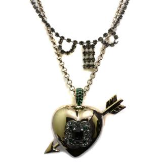 Mawi love struck big heart pendant