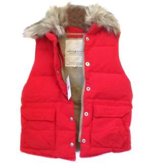 Ralph Lauren Denim & Supply Red Quilted Gilet