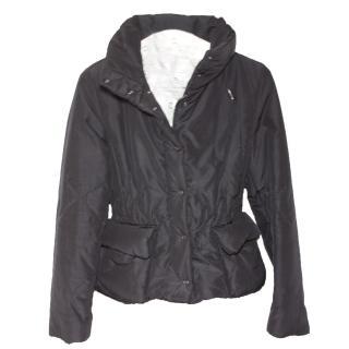 Bottega Veneta Black Silk Down Jacket It 38