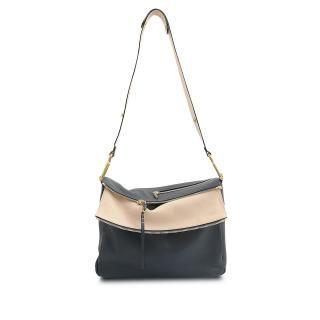 Chloe Vanessa navy blue cross body handbag