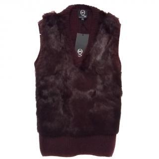 McQ Alexander McQueen fur and woollen vest