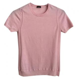 JOSEPH 100% cashmere t-shirt in light pink