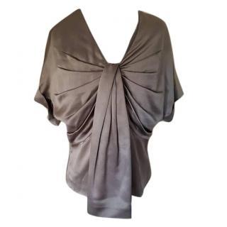 Dior grey silk evening top