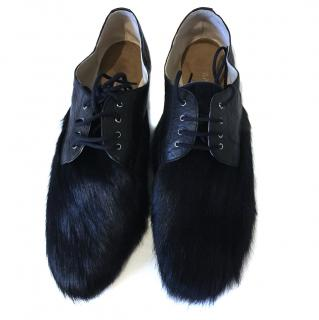 Bally Fur lace up shoes
