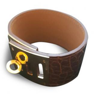 Hermes Kelly Dog Bracelet Cuff GHW