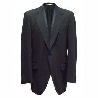 Dolce & Gabbana Black Striped Single-Buttoned Blazer