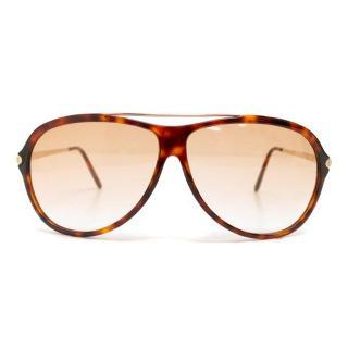 Yves Saint Laurent Tortoise Shell Aviator Sunglasses