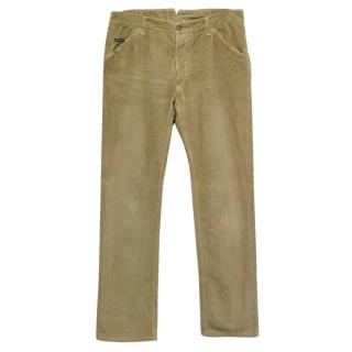 Dolce & Gabbana Beige Corduroy Trousers