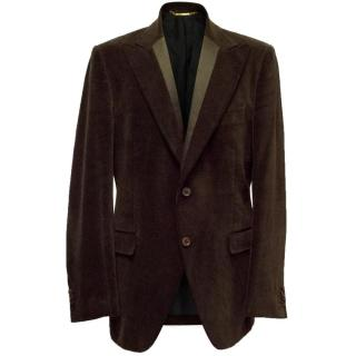 Dolce & Gabbana Brown Velvet Jacket