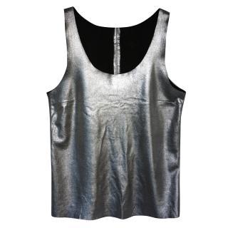 Joseph Leather Silver top
