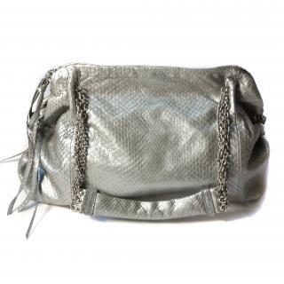 Bottega Veneta Silver Python bag - immaculate condition