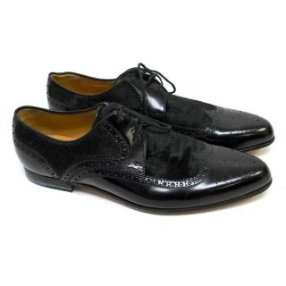 Gucci Black Leather and Pony Hair Brogues