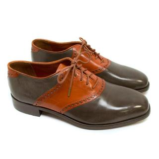 Florsheim by Duckie Brown Brown Leather Dress Shoes