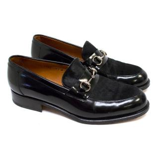 Gucci Black Loafers with Pony Hair