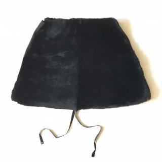 s'Max Mara black fur capelet