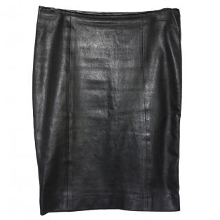 Joseph Black Leather skirt Fr 36