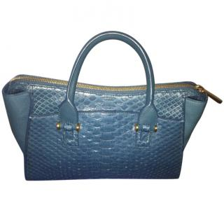 Smythson Eliot collection Python and Nubuck Tote