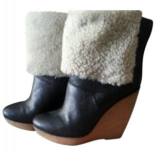 Michael Michael Kors Emmet Shearling winter wedge boots