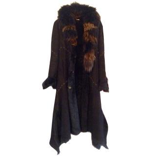 Roberto Cavalli toscan shearling and fox coat