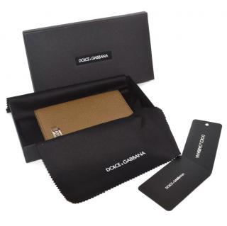 Dolce & Gabbana brown passport case