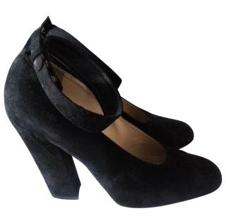 Chloe suede heels ankle strap