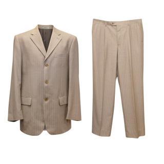 Schilder Oatmeal Pinstripe Two Piece Suit