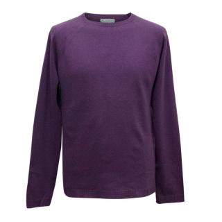 Clements Ribeiro Men's Purple Cashmere Crewneck Jumper