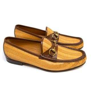 Gucci Woven Straw Loafers