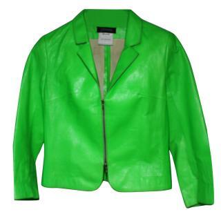 Jitrois Green Leather Jacket