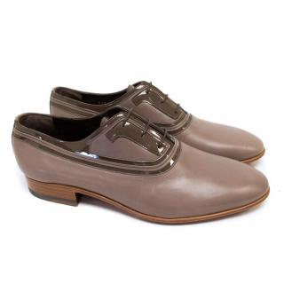 Lanvin Men's Grey Leather Dress Shoes
