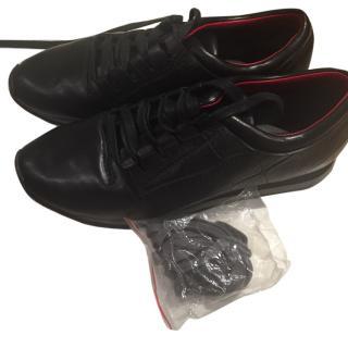 Alexander Wang black leather sneakers