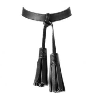 Zana Bayne Black Leather Tassel Choker