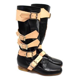 Vivienne Westwood Black Leather Pirate Boots