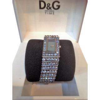 Dolce & Gabbana Watch with pale blue diamante