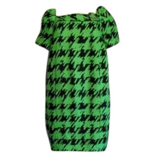Marc Jacobs Houndstooth Green/ black Dress