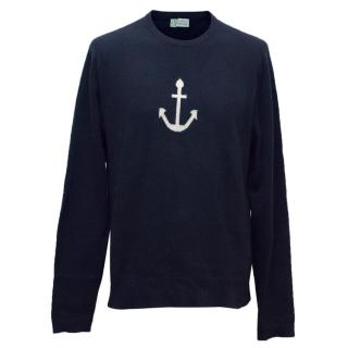 Clements Ribeiro Navy Cashmere Jumper