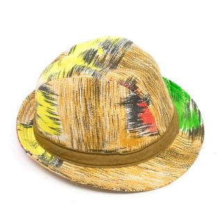 Yves Andrieux Patterned Trilby Hat