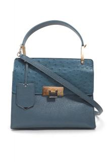 Balenciaga Le Dix Cartable S in Ostrich and Leather