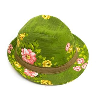 Yves Andrieux Floral Fedora