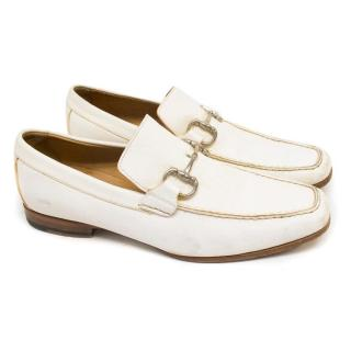 Canali White Loafers